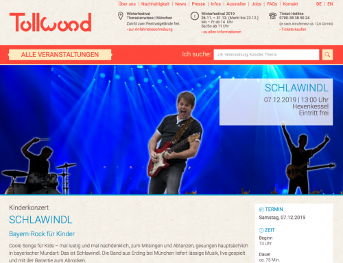 Schlawindl erstmals am Tollwood Winterfestival München