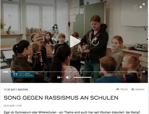 """Fernsehbeitrag Sat 1 Bayern """"Wir stehen nicht auf Rassismus"""""""