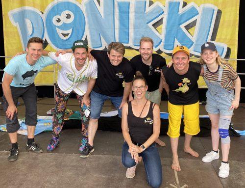 Schlawindl auf dem Rivertone Festival mit Donikkl